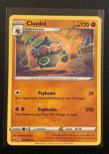 Rare 103//202 Claydol Sword /& Shield Base Set Pokemon TCG