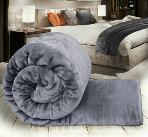 Faux Fur Fleece Throw Soft Warm Large Sofa Bed Blanket All Sizes