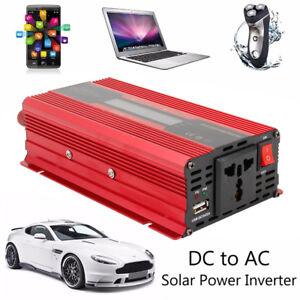 2000W-Inverseur-12-DC-a-220V-AC-voiture-solaire-onduleur-Convertisseur-USB-BA