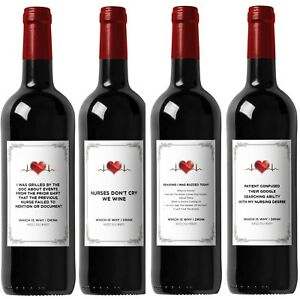 Funny-Wine-Labels-for-Nurses-Great-Gift-for-Graduation-Includes-All-4-Labels