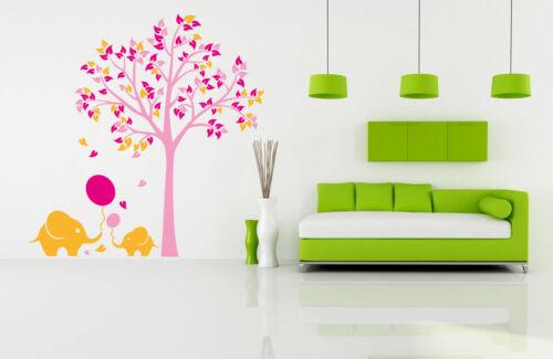 Large elephant tree Wall Stickers living room UK   SH56