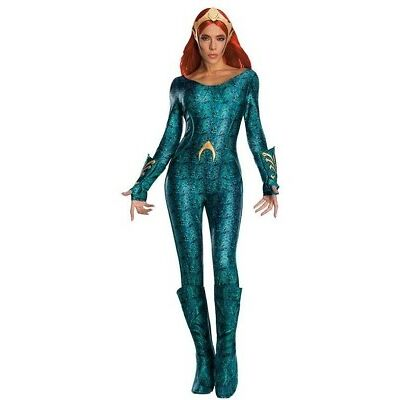 Rubies 3821200 - Mera Deluxe - Adult, DC Aquaman - Größe. 36 - 46, S,M,L