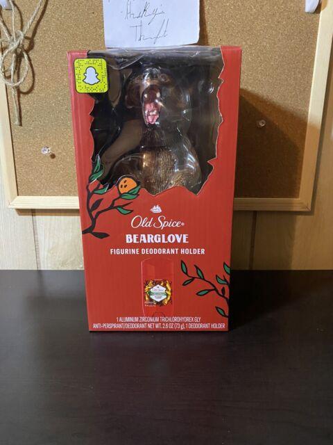 NEW: Old Spice Bearglove Deodorant Holder Figurine 2.6 Oz Deodorant Included