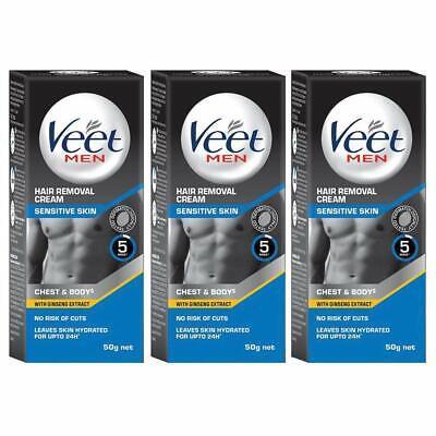Veet Hair Removal Cream For Men Sensitive Skin 50g Each Pack Of