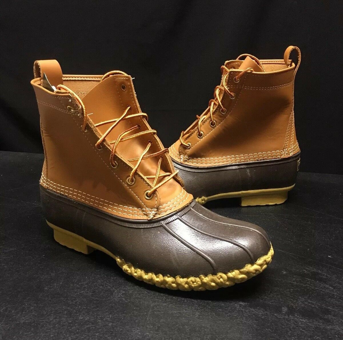 "135 Mens L.L. Bean Stiefel 8  Inch LL Duck 6"" Tan braun 14 Original Waterproof"