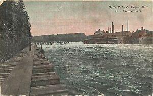 2 Vintage Postcard - Wisconsin - Dells Pond, Eau Claire