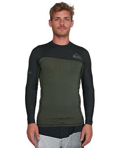 NEW-QUIKSILVER-Mens-Core-Performer-Long-Sleeve-UPF-50-Rash-Vest-Rashie-Rashves