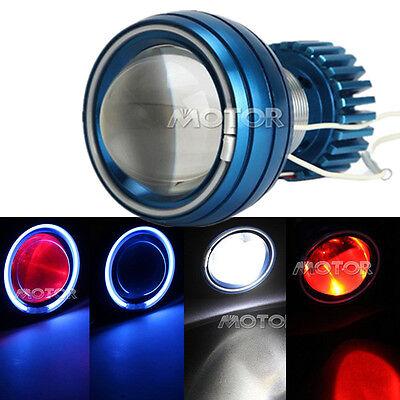 Motorcycle Angel Devil Eye Halo Headlight Projector Lens Bi-xenon HID Set Motor