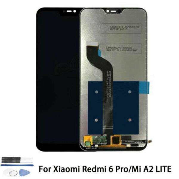 A2 Lite Color : Black LCD Screen Mobile Phone and Digitizer Full Assembly with Frame for Xiaomi Redmi 6 Pro Black