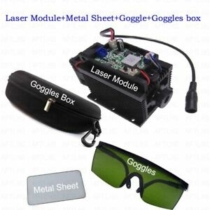 450nm-15W-Blue-Laser-Module-With-Heatsink-For-Laser-Cutter-Engraver-metal-sheet