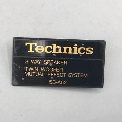 Genuine Technics Speaker Logo Badge Plaque