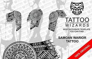 MAORI SAMOAN Polynesian SUN WARRIOR Half Sleeve Tattoo Stencil ...
