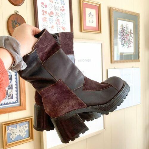 SKETCHER'S 1990'S Y2K Brown Platform Chunky Boots