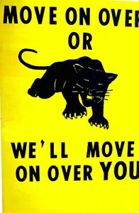 FAMOUS-CLASSIC-BLACK-PANTHER-PARTY-POSTER-1960-039-s-scarce-2nd-or-3rd-print