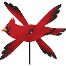 "Red Cardinal Bird Whirligig Wind Spinner Small 17"""