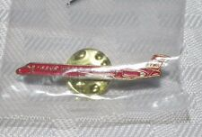 HARD TO FIND VINTAGE TWA WINGS OF PRIDE MD 80 AIRPLANE HAT LAPEL PIN TIE TAC NOS
