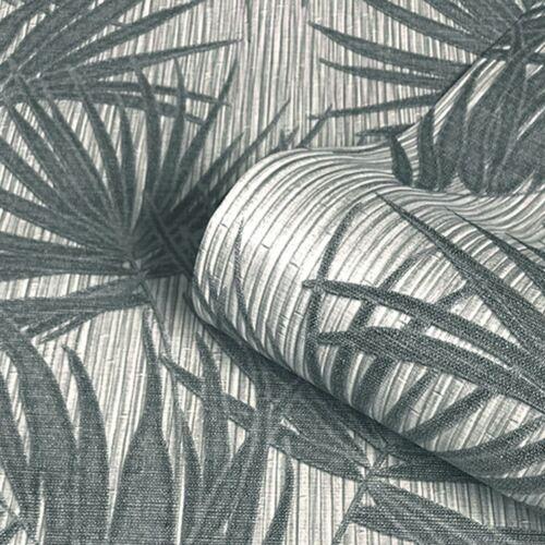 Aurora Palm papier peint Gunmetal//Gris Argent Métallisé Belgravia 4992