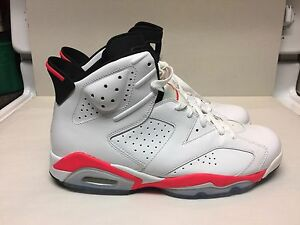 RARE? Nike Air Jordan 6 VI INFRARED White Black (384664-123) All Star  Size 11