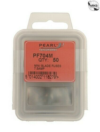 Pearl Consumables Fuses - Mini Blade - 7.5a - Pack Of 50 Pf704m Duurzame Modellering