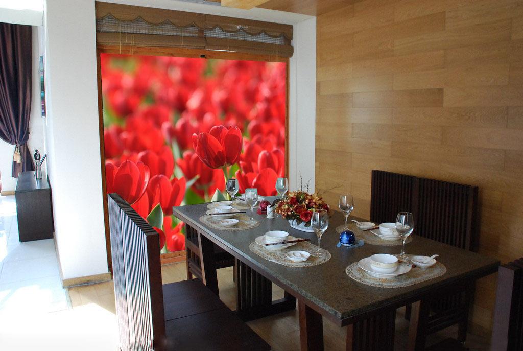 3D Beautiful Red Tulips Field2082 Wall Paper Wall Print Decal Wall AJ Wall Paper