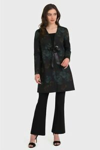 Joseph Ribkoff Black Multi Floral Print Cover Jacket Style 194638 Size Uk12