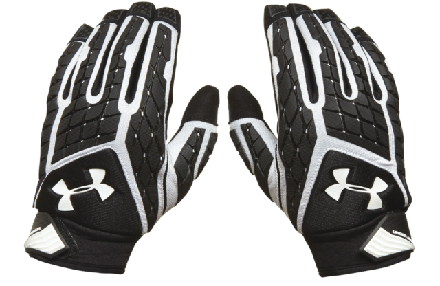 Under Armour Youth Large Combat Football Gloves Full Finger Lineman
