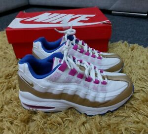 Euc Older Girls Womens Nike Air Max 95 trainers size 5 EU 38 peanut butter jelly