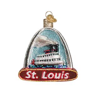 Old-World-Christmas-ST-LOUIS-ARCH-20073-N-Glass-Ornament-w-OWC-Box