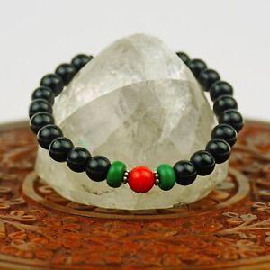 Bracelet Noir Onyx Corail Bracelet de Perles Verts Jade Bracelet Népal 108c to3NOKBI-09122654-506478529