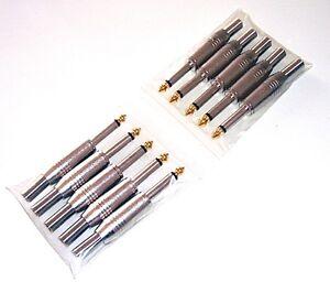 Klinkenstecker-6-35mm-mono-Vollmetall-Klinke-Set-mit-10-Stueck