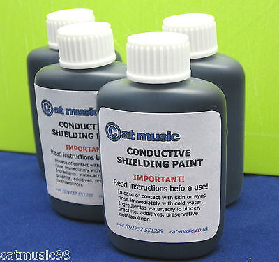 CONDUCTIVE GRAPHITE SHIELDING PAINT - REDUCES GUITAR HUM & BUZZ - PAINT ONLY!