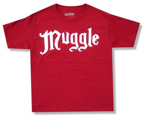 Harry Potter Muggle Kids Youth Red T Shirt New Official Movie Book