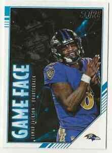 2020 Score Football Lamar Jackson Game Face Insert Gf Lj Ravens Ebay