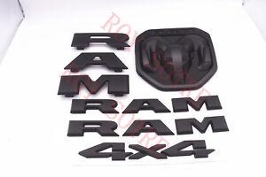 2 NEW Matte Black RAM Letter Truck Door Nameplate Emblem Badge for Dodge RAM