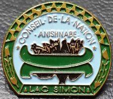 Lac Simon, Quebec, Canada Souvenir Lapel Pin - Conseil de la Nation, Anishnabe
