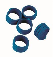 Kerbl Spiralringe 16mm blau Kunststoff 20er Pack Geflügel 3 Fach Gedreht Robust