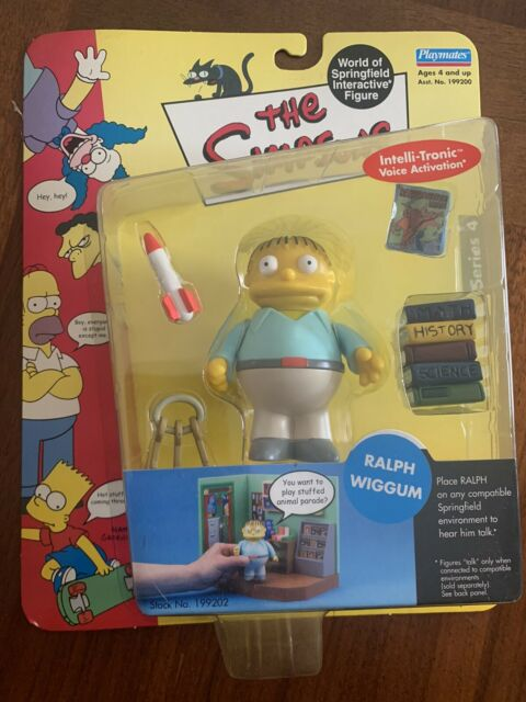The Simpsons RALPH WIGGUM Figure World of Springfield WOS Series 4 Playmates