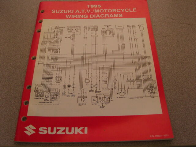 Suzuki Atv  U0026 Motorcycle Wiring Diagrams Manual 1995 99923
