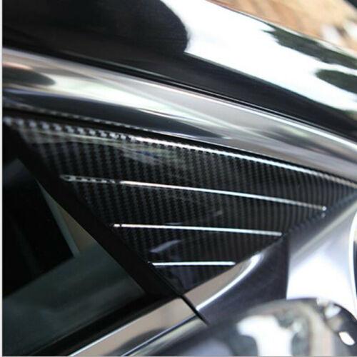 2PCS Carbon Fiber Front Window Triangle Cover Trim For Tesla Model 3 2018-2020