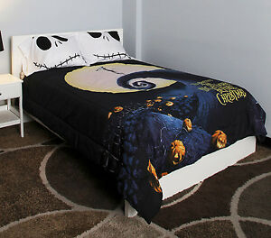 nightmare before christmas skellington bedding full double comforter