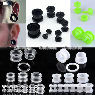 """PAIR 9//16/"""" INCH 14mm SOFT SILICONE TUNNELS GAUGES EARRINGS EAR PLUG EXPANDER"""