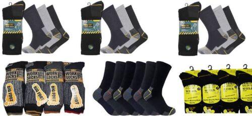 Size 11-14 Men Ultimate Work Boot Socks BIG FOOT Cushion Sole Reinforced Toe