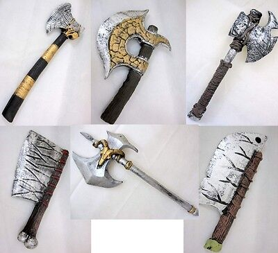 A755 Kids Boys Knight Crusader Set w// Axe Swords Shield 50cm Weapon Accessory
