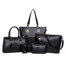 e83589015c84 6 PCS Set Women s Handbag Noble Shoulder Bags Totes Messenger Bag Purse  Leather