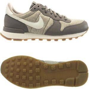 Details zu Nike Internationalist beige braun Damen Leder Low Top Sneakers NEU Gr.37,5