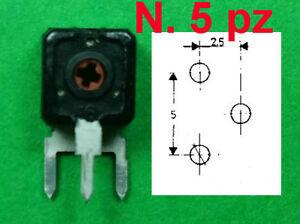n.5 pz 2,2 K ISKRA 14x14 Regolazione Orizzontale Trimmer Carbone