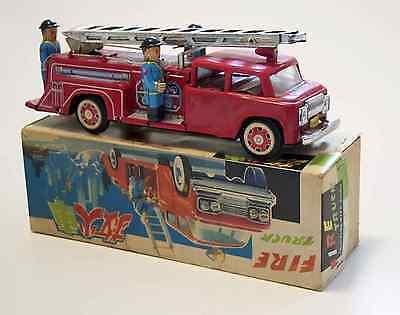 Blechspielzeug Tin Toy China 'große Feuerwehr' 'fire Truck' Mf718 Originalkarton Modische Muster