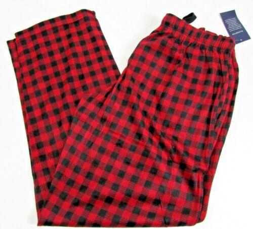 Chaps Men Lounge Pants Pajama Bottoms Micro Fleece Red Plaid