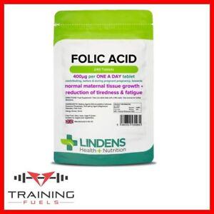 Lindens-Folic-Acid-400mcg-240-Tablets-Maternal-Tissue-Tiredness-amp-Fatigue