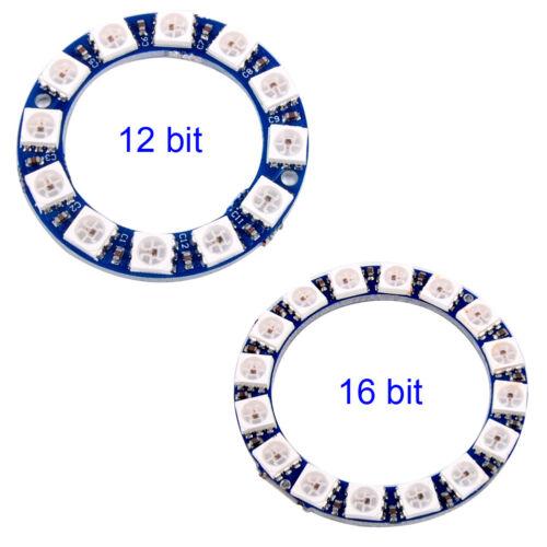 WS2812 5050 RGB LED 12bit 16bit Anillo De Luz Integrado Controlador Módulo para Arduino